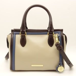 NWT BRAHMIN West Point Mini Schumer Beige Satchel